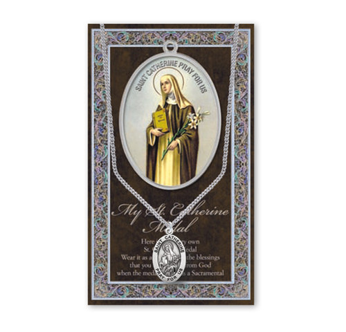 Saint Catherine Biography Pamphlet and Patron Saint Medal