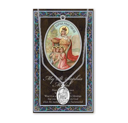 Saint Sophia Biography Pamphlet and Patron Saint Medal