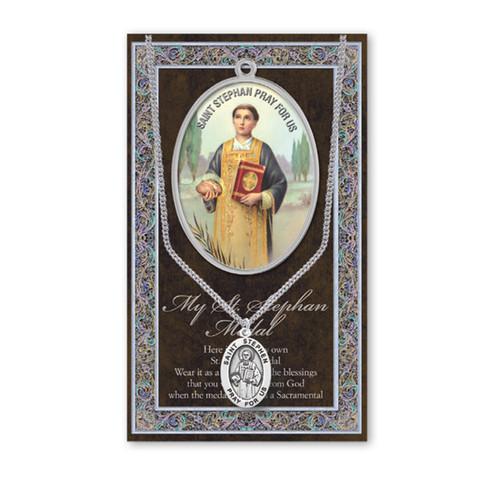 Saint Stephen Biography Pamphlet and Patron Saint Medal