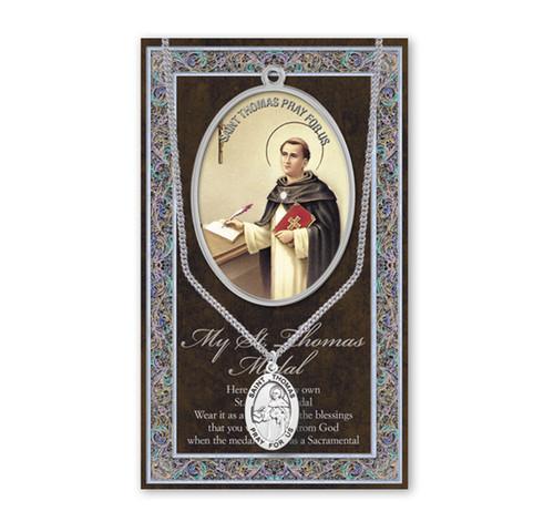 Saint Thomas Biography Pamphlet and Patron Saint Medal