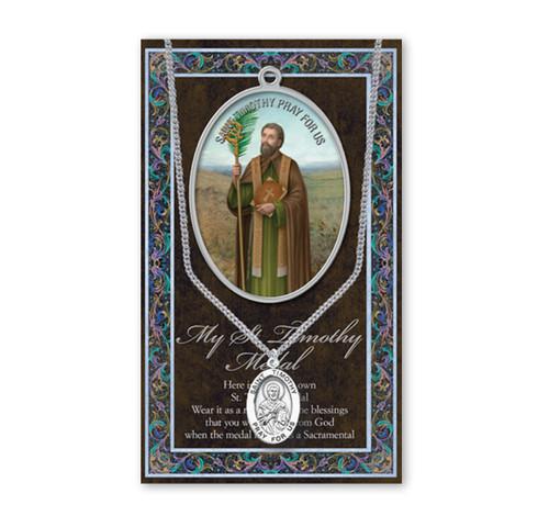Saint Timothy Biography Pamphlet and Patron Saint Medal