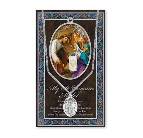Saint Veronica Biography Pamphlet and Patron Saint Medal