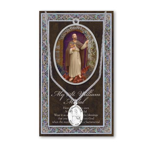 Saint William Biography Pamphlet and Patron Saint Medal