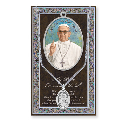 Pope Francis Biography Pamphlet and Patron Saint Medal