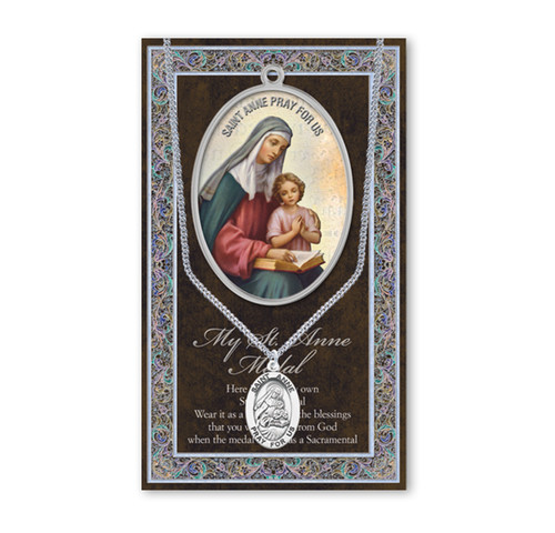 Saint Anne Biography Pamphlet and Patron Saint Medal