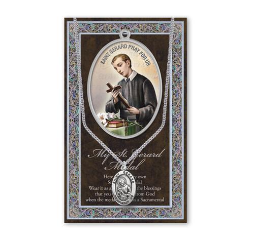 Saint Gerard Biography Pamphlet and Patron Saint Medal