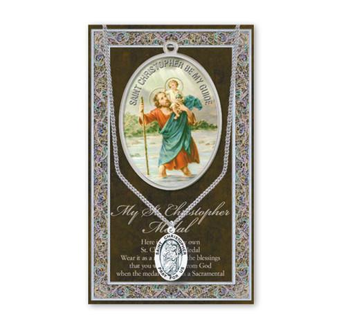 Saint Christopher Biography Pamphlet and Patron Saint Medal