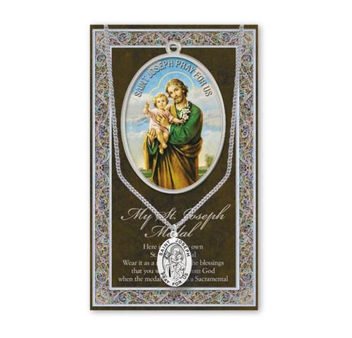Saint Joseph Biography Pamphlet and Patron Saint Medal