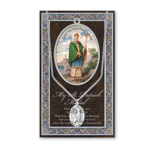 Saint Patrick Biography Pamphlet and Patron Saint Medal