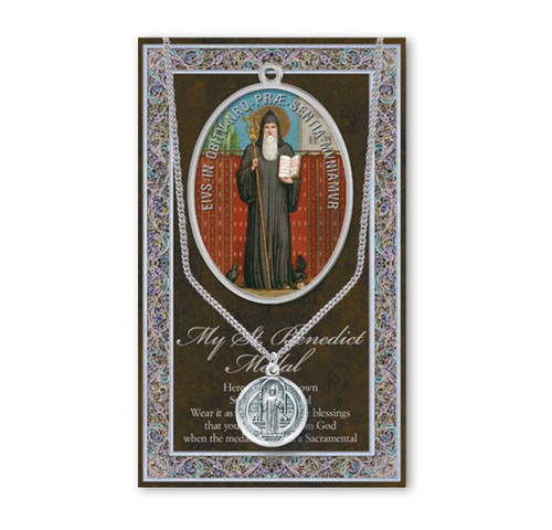 Saint Benedict Biography Pamphlet and Patron Saint Medal