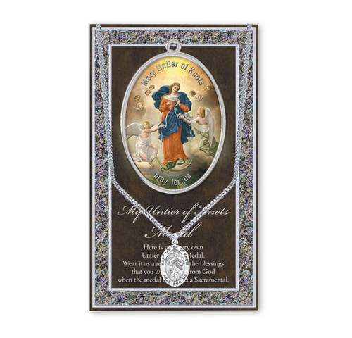 Our Lady Untier of Knots Biography Pamphlet and Patron Saint Medal