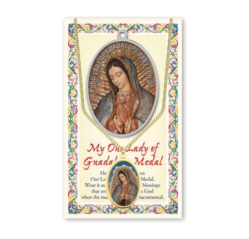 Our Lady of Guadalupe Patron Saint Enameled Medal