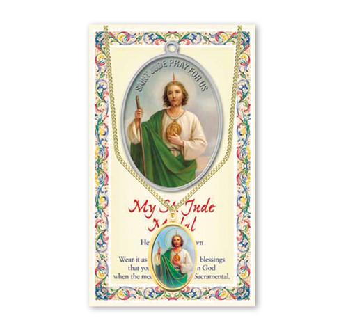 Saint Jude Patron Saint Enameled Medal