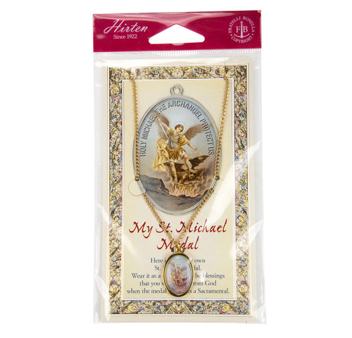 Saint Michael Patron Saint Enameled Medal
