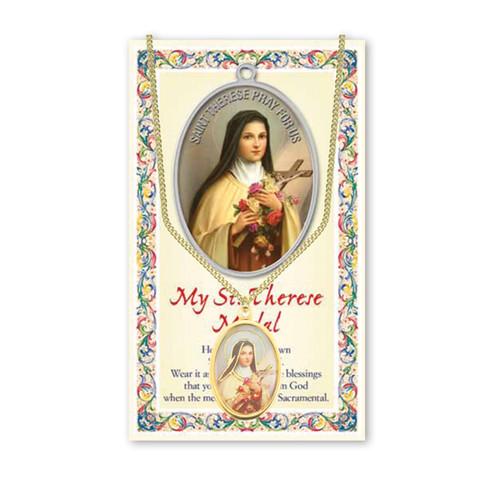 Saint Therese Patron Saint Enameled Medal