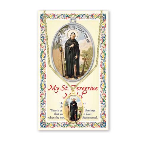 Saint Peregrine Patron Saint Enameled Medal