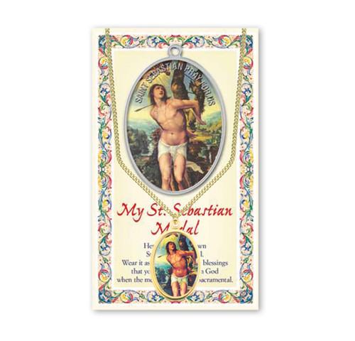 Saint Sebastian Patron Saint Enameled Medal
