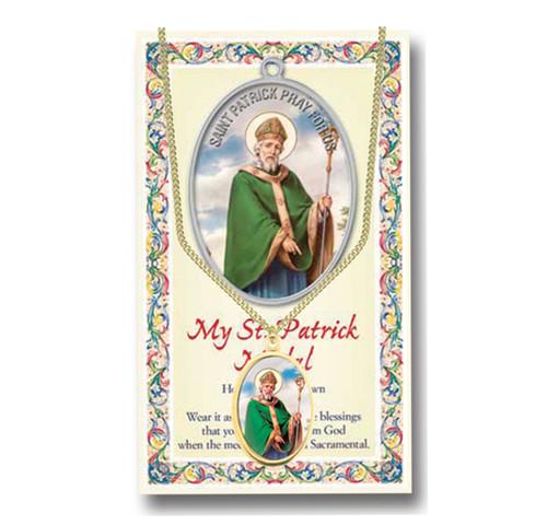 Saint Patrick Patron Saint Enameled Medal