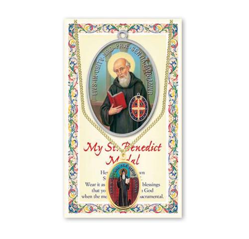 Saint Benedict Patron Saint Enameled Medal