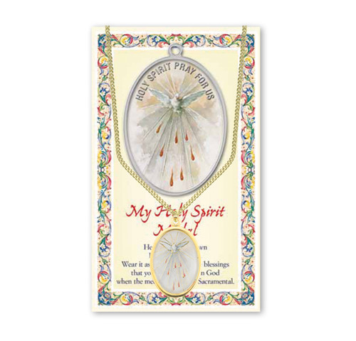 Holy Spirit Patron Saint Enameled Medal