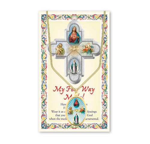 Four Way Patron Saint Enameled Medal