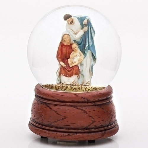 Holy Family Nativity Musical Dome | Joy To The World