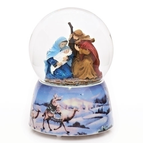 Holy Family Musical Glitter Dome | Joy To The World