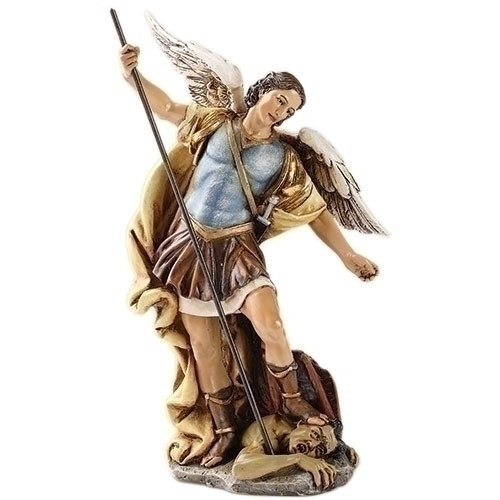 "7"" St. Michael Statue | Resin/Stone"