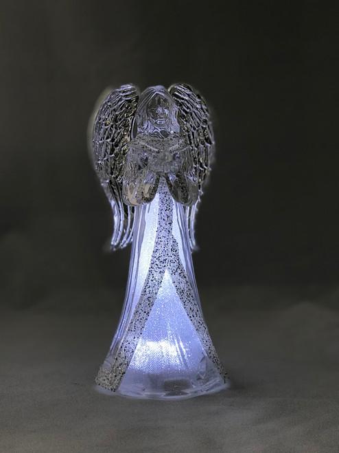 "8.75"" LED Angel with Bird | Acrylic"