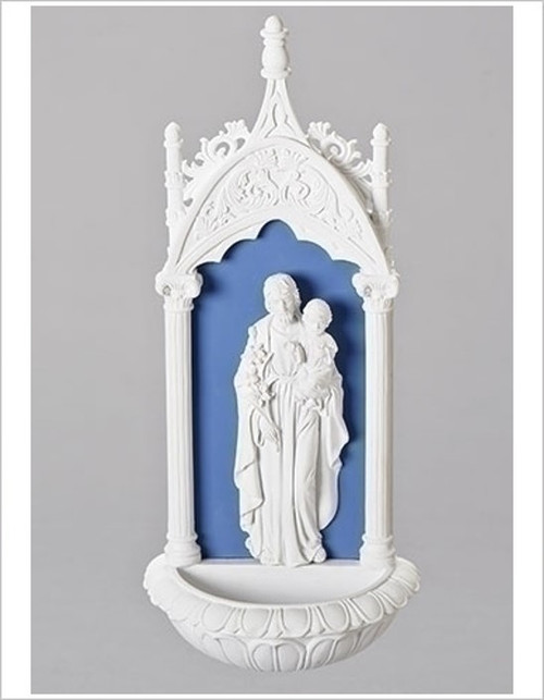 "11.5"" St. Joseph & Jesus Holy Water Font 