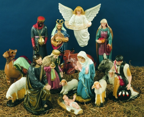 "25"" Scale Full 15 Piece Nativity Set Indoor/Outdoor 