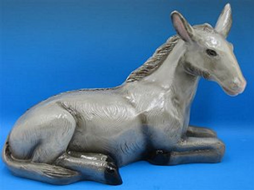 "14"" Seated Donkey Indoor/Outdoor Nativity Figure 