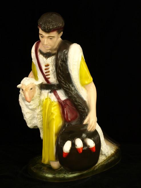 "22"" Shepherd Indoor/Outdoor Nativity Figures | Industrial-Grade Plastic | Multiple Finishes Available"