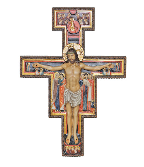 "10"" San Damaino Crucifix 