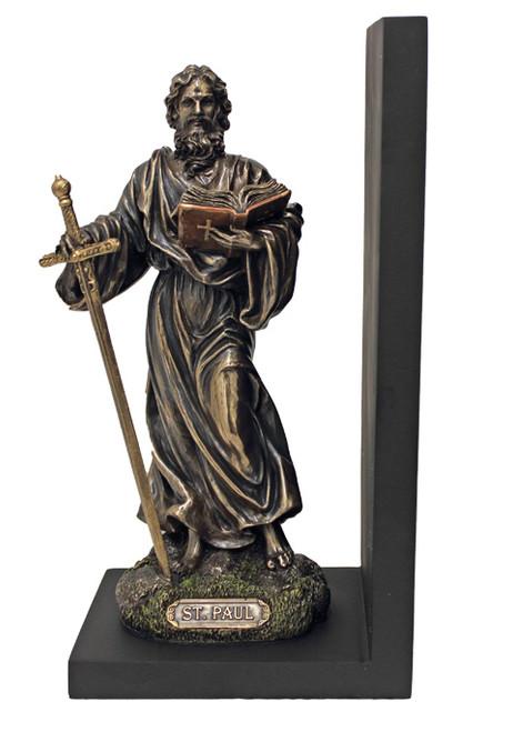 "9.5"" St. Paul Bookend Figure | Cold-Cast Bronze"