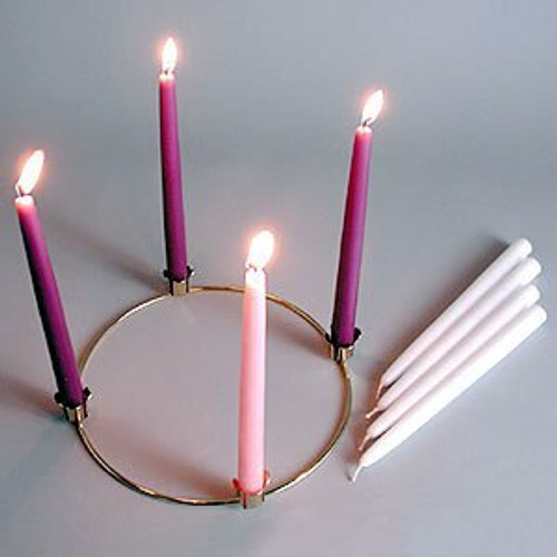 "Advent Starter Kit | 11.5"" Tapers + 10"" Gold Advent Ring"
