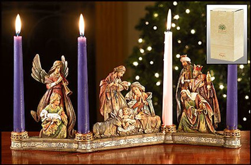 Nativity Candle Holder | Resin