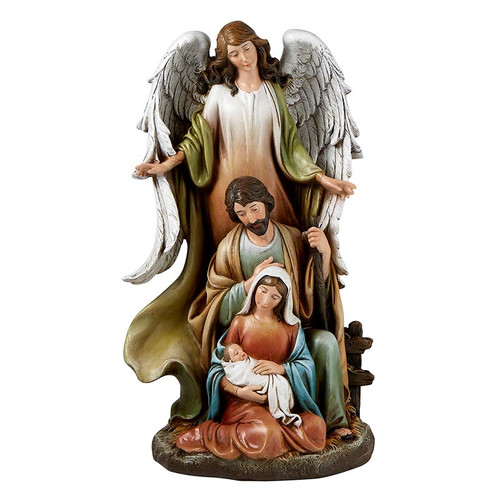 """14.5"""" Nativity with Angel 
