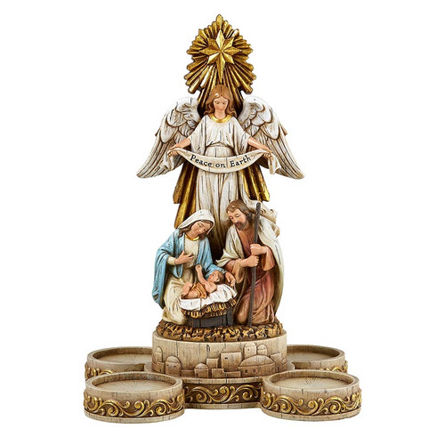 "10"" Nativity Advent Candleholder 