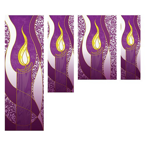 Advent Candle Banners | All Sizes