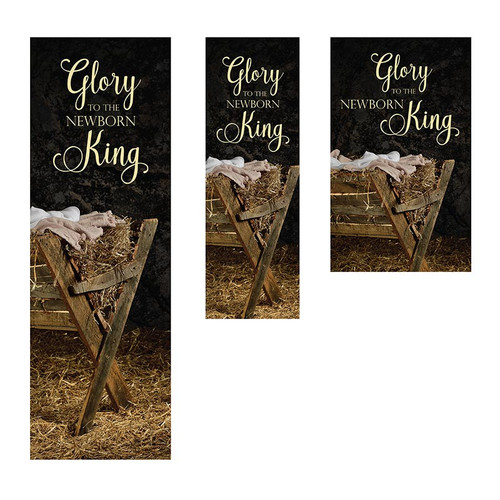 Glory to the Newborn King Christmas Banners | All Sizes