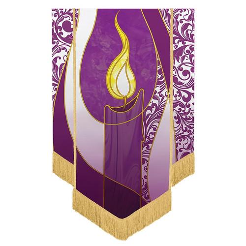 Symbols of Liturgy Advent Candle Banner | 3.5' x 5'