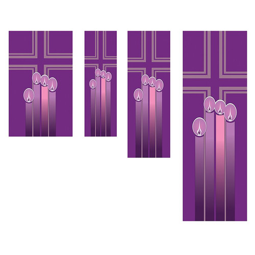 Advent Candle & Cross Banners | All Sizes