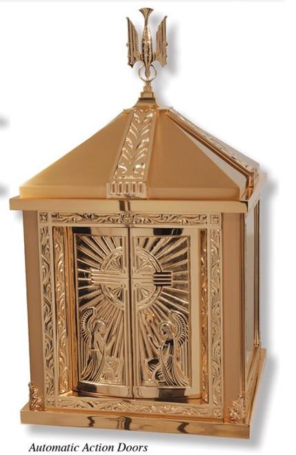 #94TAB28 Adoring Angels Tabernacle | Bronze