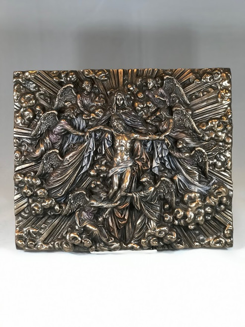 """12.5"""" Angels on High Wall Plaque 