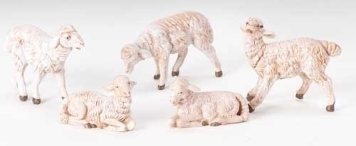 "Five White Sheep | 5"" Scale 