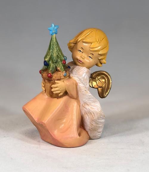 "Christmas Angel with Tree | 5"" Scale | Fontanini Italian Nativity | Retired"