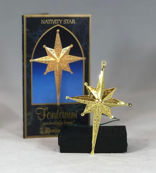 "Electric Nativity Star | 5"" Scale | Fontanini Italian Nativity | Retired"