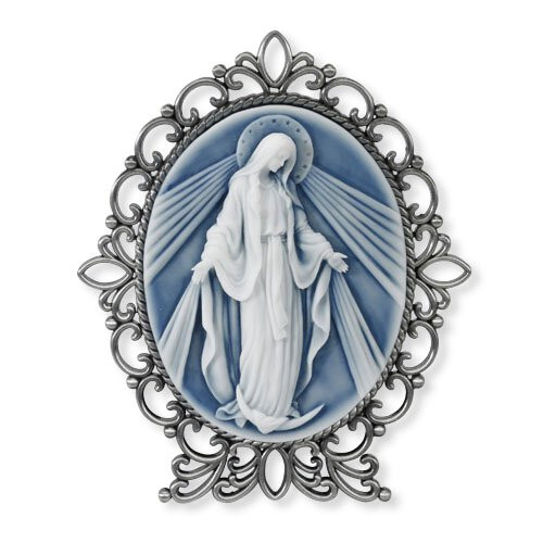 """5"""" Our Lady of Grace Cameo Desk Stand"""