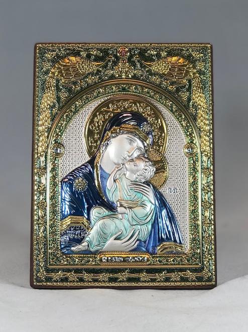 """5.5"""" Madonna & Child Color Aluminum Plaque"""